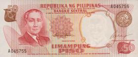 Philippinen / Philippines P.146a 50 Piso (1969) (1)