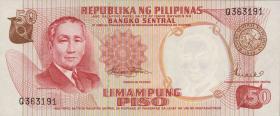 Philippinen / Philippines P.146b 50 Piso (1969) (1)