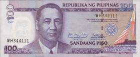 Philippinen / Philippines P.194b 100 Piso 2007 (1)
