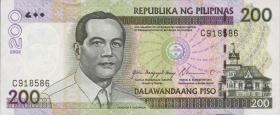 Philippinen / Philippines P.195a 200 Piso 2002 (1)