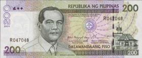 Philippinen / Philippines P.195a 200 Piso 2004 (1)
