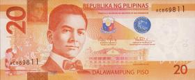 Philippinen / Philippines P.206a 20 Piso 2013 (1)