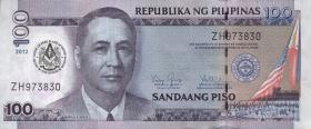 Philippinen / Philippines P.213A 100 Piso 2012 100 Jahre Loge (1)