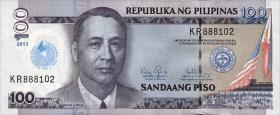 Philippinen / Philippines P.221 100 Piso 2013 (1) Cristo