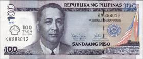 Philippinen / Philippines P.219 100 Piso 2013 (1) Shell