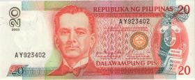 Philippinen / Philippines P.182i 20 Piso 2003 (1)