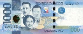 Philippinen / Philippines P.211c 1000 Piso 2017 F (1)
