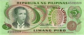 Philippinen / Philippines P.160a 5 Piso (1)