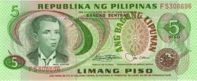 Philippinen / Philippines P.160c 5 Piso (1)