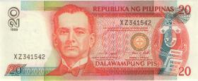 Philippinen / Philippines P.182c 20 Piso 1999 (1)