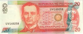 Philippinen / Philippines P.182i 20 Piso 2002 (1)
