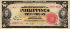 Philippinen / Philippines P.083 5 Pesos 1936 (2)