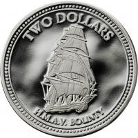 Pitcairn Islands 2 Dollars 2010 Segelschiff Bounty