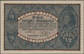 Polen / Poland P.030 1/2 Marki 1920 (1-)