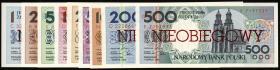 Polen / Poland P.164s-172s 1 - 500 Zlotych 1990 (1)
