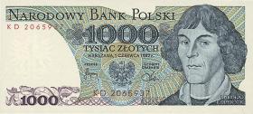 Polen / Poland P.146c 1000 Zlotych 1982 Kopernikus (1)