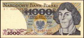Polen / Poland P.146b 1000 Zlotych 1979 Kopernikus (1)