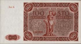 Polen / Poland P.131 100 Zlotych 1947 (1)