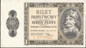 Polen / Poland P.050 1 Zloty 1938 (1)