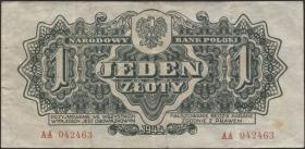 Polen / Poland P.105a 1 Zloty 1944 (3)