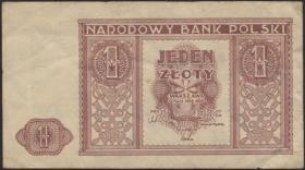 Polen / Poland P.123 1 Zloty 1946 (1-)