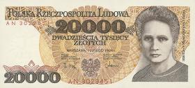 Polen / Poland P.152 20000 Zlotych 1989 (1) Marie Curie