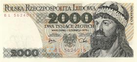 Polen / Poland P.147b 2000 Zlotych 1979 (1)