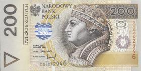 Polen / Poland P.177 200 Zlotych 1994
