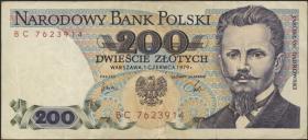 Polen / Poland P.144b1 200 Zlotych 1979 (3)