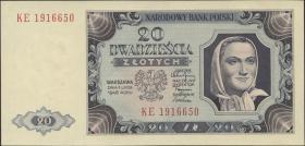 Polen / Poland P.137 20 Zlotych 1948 (1)