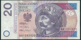 Polen / Poland P.184a 20 Zlotych 2012 (2014) (1)