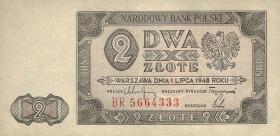 Polen / Poland P.134 2 Zlotych 1948 (1)