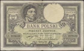 Polen / Poland P.058 500 Zlotych 1919 (1924) (3)