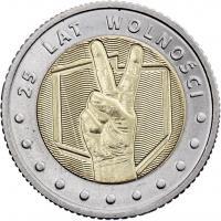 Polen 5 Zlotych 2014 25 Jahre Freiheit