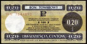 Polen / Poland P.FX38 20 Cents 1979 Außenhandelszertifikat (1)