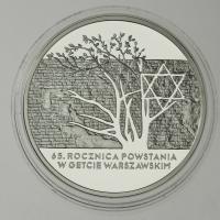 Polen / Poland 20 Zloty 2008 65. Jahrestag des Aufstandes Warschauer Ghetto