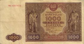 Polen / Poland P.122 1000 Zlotych 1946 (3)