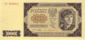 Polen / Poland P.140 500 Zlotych 1948 (1/1-)