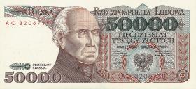 Polen / Poland P.153 50000 Zlotych 1989 (1)