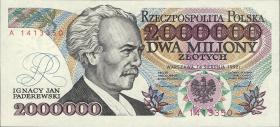 Polen / Poland P.158a 2.000.000 Zlotych 1992 (1)