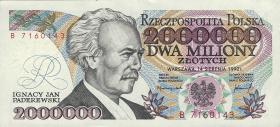 Polen / Poland P.158b 2.000.000 Zlotych 1992 (1)