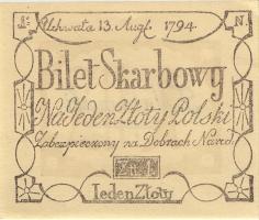 Polen / Poland P.A10 1 Zloty 1794 (Faksimile 1967) (1)