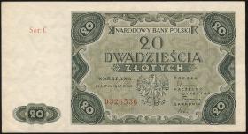 Polen / Poland P.130 20 Zlotych 1947 (2)