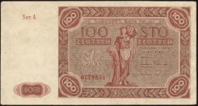 Polen / Poland P.131 100 Zlotych 1947 (2)