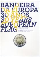 Portugal 2 Euro 2015 30 Jahre EU-Flagge im Folder PP