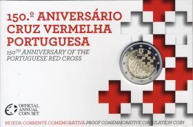 Portugal 2 Euro 2015 150 J. Portugies. Rotes Kreuz im Folder PP