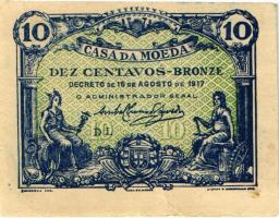 Portugal P.095c 10 Centavos 1917 (2)
