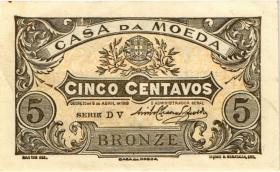 Portugal P.099 5 Centavos 1918 Bronze (2)