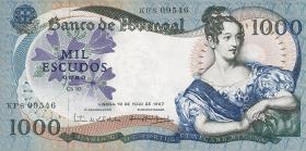 Portugal P.172a 1000 Escudos 1967 Königin Maria II. (2+)