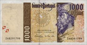Portugal P.188a 1000 Escudos 1996 Cabral (1)